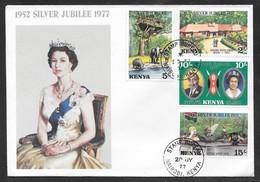 Kenya - 1977 QEII Silver Jubilee Illustrated FDC - Kenya (1963-...)