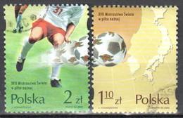 Poland 2002 - World Cup Soccer - Mi.3978-79 - Used - Usati
