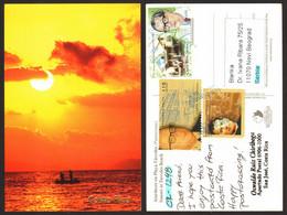 Costa Rica Sunset Nice Stamp  # 29831 - Costa Rica