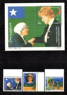 SOMALIA 1997 - FOGLIETTO + SERIE - S/SHEET + SET - LADY DIANA & M.TERESA - MNH**. - Somalia (1960-...)
