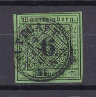Wuerttemberg - 1851/52 - Michel Nr. 3 K2 - Gestempelt - 40 Euro - Wurttemberg