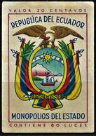 Vintage Ecuador Matchbox Label - Boites D'allumettes - Etiquettes