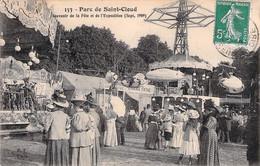 Parc De Saint Cloud -souvenir De La Fête Et De L'exposition - Recto Verso - Saint Cloud