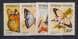 Togo - 1990 - N°Yv. 1289 à 1292 - Papillons / Butterflies - Neuf Luxe ** / MNH / Postfrisch - Schmetterlinge