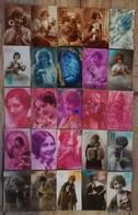 LOT 50 Cartes Femme ART DECO Années 20'. Fantaisie Cpa - Women