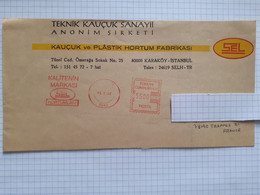 EMA KALITENIN MARKASI SEL HORTUMLARI - Karaköy Istanbul 15/01/1992 Pour 78190 Trappes France - Covers & Documents