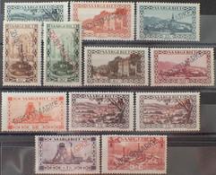 R2452/1417 - 1927/1934 - SARRE - TIMBRES DE SERVICE - SERIE COMPLETE - N°16 à 26 + N°24a NEUFS* - Dienstmarken