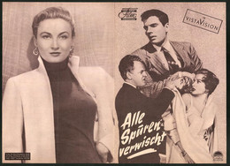 Filmprogramm DNF, Alle Spuren Verwischt, Carol Ohmart, Tom Tryon, Regie: Michael Curtiz - Magazines
