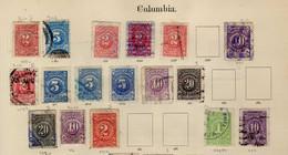 Colombie (1904-1908)  -  Chiffres - Obliteres - Colombie