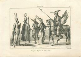 """TURQUIE - GRAVURE ANCIENNE - """"TROUPES TURQUES De 1540 à 1580"""" - UNIFORMES - (14 X 19,5 Cm) - TRES BON ETAT. - Estampes & Gravures"""