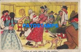 159996 ART ARTE SIGNED PEDRO SEGUI HUMOR OLD MAN GAUCHO DANCER BEAUTY PEASANT BREAK POSTAL POSTCARD - Zonder Classificatie