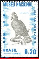 Ref. BR-1084 BRAZIL 1968 - SESQUICENTENNIAL OF NTL, MUSEUM, HARPY EAGLE, MI# 1173, MNH, BIRDS 1V Sc# 1084 - Eagles & Birds Of Prey