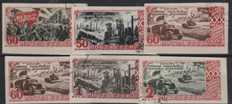 RUSSIA - 1947 Imperf October Revolution. Scott 1183-1188. Used - Used Stamps