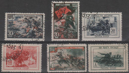 RUSSIA - 1945 Red Army. Scott 974-979. Used - Used Stamps