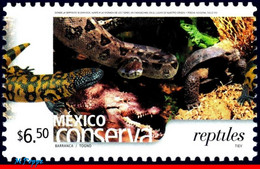 Ref. MX-2422 MEXICO 2005 ANIMALS, FAUNA, CONSERVATION, REPTILES,, SNAKES, ALLIGATOR, TURTLE, (6.50P), MNH 1V Sc# 2422 - Snakes