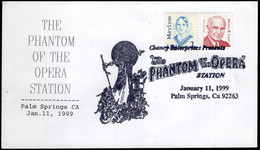 """USA - 1999 - Tematic Envelope - Special Postmark - """"The Phantom Of The Opera"""" - A1RR2 - Used Stamps"""