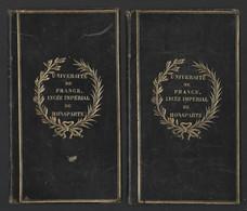 (sam So) Reliures Au Fer Du Lycée Impérial De Bonaparte Sur Gesner, Oeuvres, 1824 In 12° Pl. Veau Bleu époque - Old Books