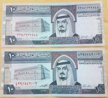 Saudi Arabia 10 Riyals 1983 P-23 C And D UNC 2 Pieces From A Bundle - Saudi Arabia