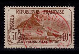 YV 230 Obliteration Rouge De L'exposition Philatelique De Lyon De 1931 , 3eme Orphelins - Gebruikt