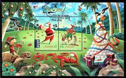 Christmas Island 2017 Christmas Minisheet Used - Christmaseiland