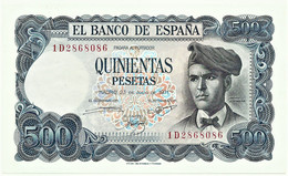 ESPAÑA - 500 Pesetas - 23.07.1971 ( 1973 ) - Unc. - Pick 153 - Serie 1D - Jacinto Verdaguer - 500 Pesetas