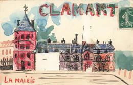 92 CLAMART #24720 LA MAIRIE REPRESENTATION TIMBRES - Clamart
