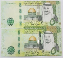 Saudi Arabia 50 Riyals 2017 P-40 B UNC Ten Pieces From A Bundle - Saudi Arabia