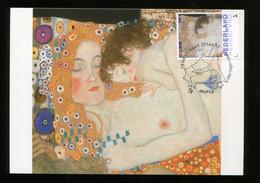 CM Netherlands Carte Maximum Maximum Gustav Klimt AKT FRAU MIT KIND NUDE NU - Nudes