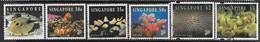 Singapore 1994  6 Diff Marine Life To The $5 Used 2016 Scott Value $17 - Singapour (1959-...)