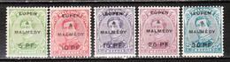 OC55/59*  Emission De 1915 Surchargé EUPEN & MALMEDY - Bonnes Valeurs - MH* - LOOK!!!! - [OC55/105] Eupen/Malmedy