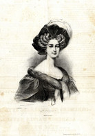 Charivari Antique Print 1835 Zoë Prévost French Operatic Soprano Par A.Deveria - Estampes & Gravures