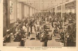 """CPSM FRANCE 42 """"Saint Etienne, Manufacture Française D'Armes Et Cycles """" / CACHET - Saint Etienne"""