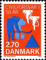Danemark Poste N** Yv: 923 Mi:920 Cinquantenaire De La Défense Civile - Ungebraucht