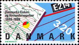 Danemark Poste N** Yv: 958 Mi:955 Institut National De Recherches Halieutiques - Ungebraucht