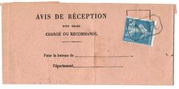 SEINE AVIS 1923 PRIS 77A AGENCE POSTALE ET RETOUR DE GARCHES SEINE ET OISEN°140 OBLIT AR - 1921-1960: Periodo Moderno
