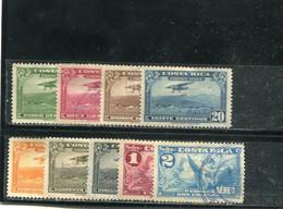 Costa Rica 1934 Yt 14-20 23-24 Timbres Pour La Poste Aérienne - Costa Rica