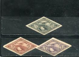 Costa Rica 1937 Yt 27-29 * Timbres Pour La Poste Aérienne - Costa Rica