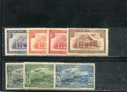 Costa Rica 1937 Yt 30-36 * Timbres Pour La Poste Aérienne - Costa Rica