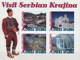 SERBIA - SERBIAN KRAJINA - 2012 - Europa, Visit Serbian Krajina - Imperf 4v Souv Sheet - Mint Never Hinged-Private Issue - Serbien