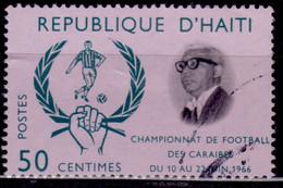 Haiti, 1966, Caribbean Football Championship, 50c, Used - Haití