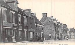 Cpa 50] Manche > Condé Sur Vire Place De L église Commerce épicerie Carte Animée  Carte Animée - Autres Communes