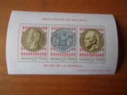 MONACO 1994 (cote 17,00**) Bloc Musée Des Timbres Et Des Monnaies - Blocs