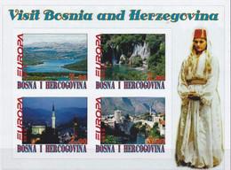 BOSNIA HERCEGOVINA - 2012 - Europa, Visit Bosnia And Hercegovina - Imperf 4v Souv Sheet-Mint Never Hinged- Private Issue - Bosnien-Herzegowina
