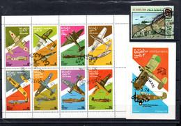 T1-7 Sultanat D'Oman Timbres Et Blocs Oblitéré  A Saisir !!!  Avions - Oman