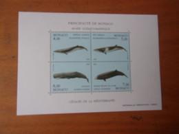 MONACO 1993 (cote 17,00**) Cétacés: BALEINE,CACHALOT.. - Blocs
