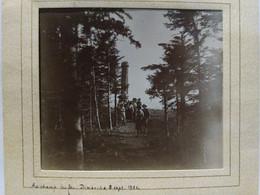 Alsace. Bas Rhin. Champ Du Feu. 1901. 7.5x8 Cm. Collée Sur Encadrement - Lieux