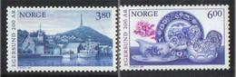 Norway 1998 200 Years City Egersund, Harbour,  Faience From Egersund Porcelen. Mi 1278-1279,MNH(**) - Neufs