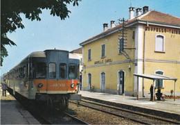 GROPELLO CAIROLI - PAVIA - STAZIONE FERROVIARIA CON TRENO - Pavia