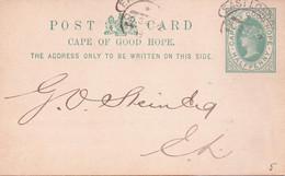 Seltene  Alte Postkarte / Privat-Ganzsache    CAPE OF GOOD HOPE / Kap Der Guten Hoffnung / Südafrika - Gelaufen 1902 Ca. - Africa (Other)