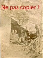 PHOTO FRANCAISE - POILUS DANS LES FOSSES DU CHATEAU A AUBILLY PRES DE VRIGNY - REIMS MARNE 1914 - GUERRE 1914 1918 - 1914-18